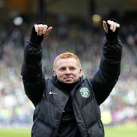 Neil Lennon hit by coin in Edinburgh derby scoreless draw; Celtic hit five; Rangers held