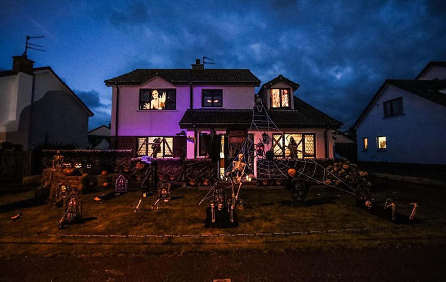 Antrim home turned into halloween house of horrors for for Home decor northern ireland
