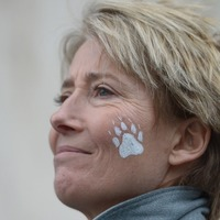 Emma Thompson was caught in a mosh pit at the Reading Festival