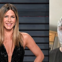 This guy is covered in yoghurt and it's all Jennifer Aniston's fault