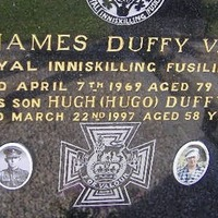 Blue plaque in honour of Donegal WW1 Victoria Cross winner
