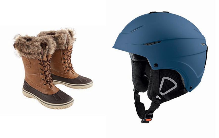 451609dd2b Women s boots £17.99 and unisex ski and snowboard helmet £19.99
