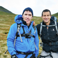 Rob Brydon and Bear Grylls rescue sheep during Welsh adventure