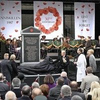 Hundreds gather on anniversary of Enniskillen bombing as memorial to victims unveiled