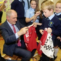 Tyrone manager Mickey Harte quizzed by school pupils