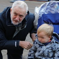 Jeremy Corbyn's attempt to make adorable toddler smile doesn't go as planned