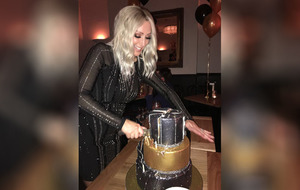 Steps celebrate Faye's birthday in Bull and Ram restaurant in Belfast