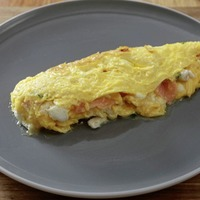 James Street South Cookery School: Welsh Rarebit and Smoked salmon and goats cheese omelette