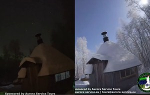 Watch the incredible moment a meteor strike lights up the night sky in Lapland
