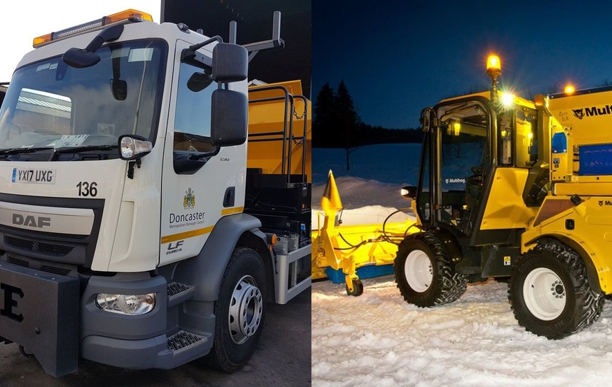 Two new snow gritters secured the best names after a Twitter World Cup contest full of puns