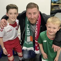 Grandsons of Loughinisland survivor led teams onto pitch for World Cup play-off