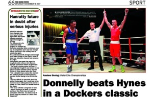 Video and report - a boxing belter: Steven Donnelly gets the nod over Caoimhin Hynes in Dockers Club classic