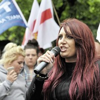 Far right deputy leader Jayda Fransen charged over rally speech