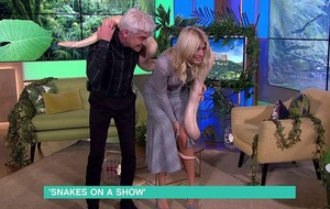 'Hissss' Morning drama as Holly Willoughby gets wrapped up by snake