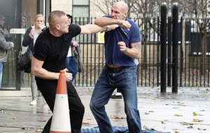 Punch-up outside Belfast court