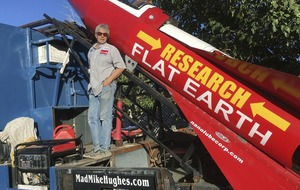 This self-taught scientist is launching himself in a homemade rocket to prove the Earth is flat