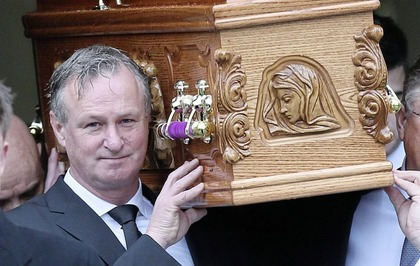 Funeral held for Northern Ireland manager Michael O'Neill's mother