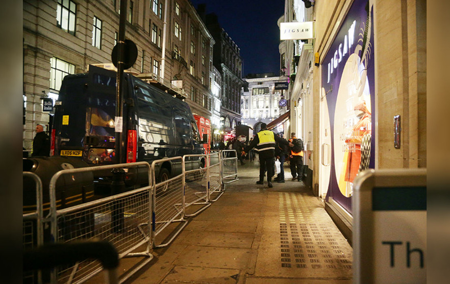 UK police at reported incident at Oxford Circus station