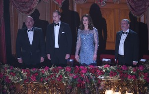 William and Kate attend Royal Variety Performance after delay due to incident