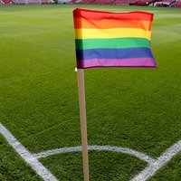 Why are sports clubs displaying rainbows this weekend?