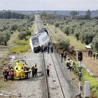 Dozens injured after train carriage derails in southern Spain