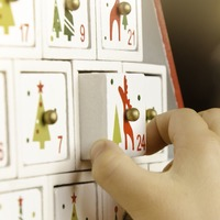 What did everyone find behind the first door of their Advent calendars?