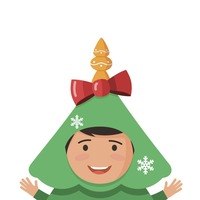 This student accidentally committed to wearing a Christmas tree costume all term