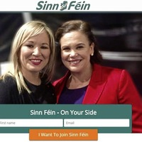 New Sinn Féin website photo gives indication of future leadership team - Mary Lou McDonald and Michelle O'Neill side by side