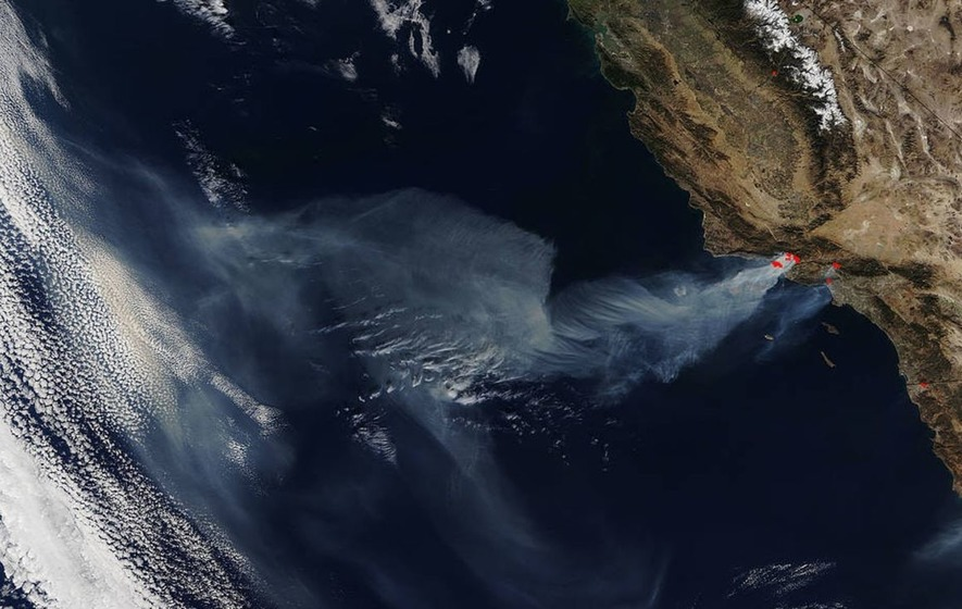This Is What the Devastating California Wildfires Look Like From Space