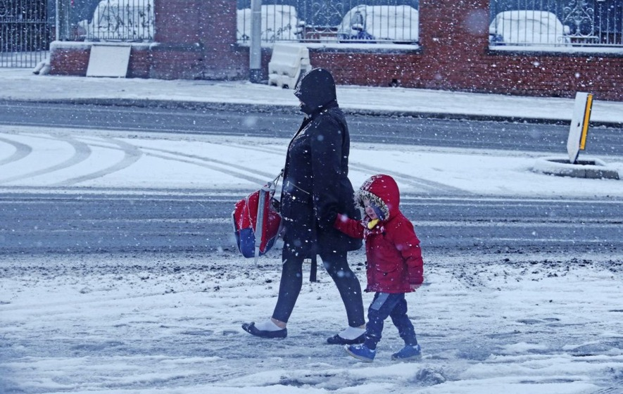 Snow, ice and travel chaos warning after Storm Caroline