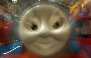 This video of Thomas The Tank Engine performing remarkable stunts is epic