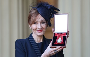 JK Rowling 'deeply honoured' to be made Companion of Honour