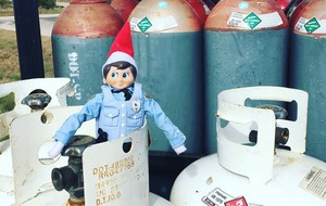 This police force has its very own Elf On The Shelf and it's all very cute