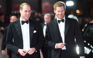 Prince Harry and Duke of Cambridge pick up souvenirs at Star Wars premiere