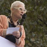 Dame Vivienne Westwood designs t-shirt calling for suspension of arm sales