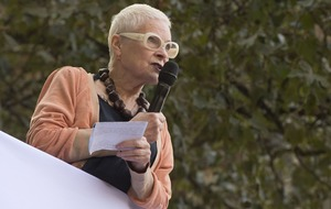 Dame Vivienne Westwood designs t-shirt calling for suspension of arm sales