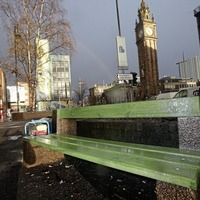 Benches in public square in Belfast used by rough sleepers reinstalled by council