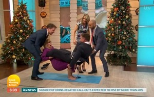 GMB's Kate Garraway and Richard Arnold roll around after Strictly move attempt