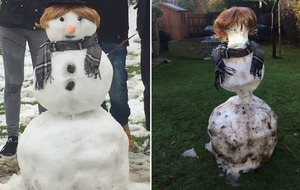 There's a sinister army of partially melted snowmen terrifying the country