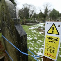 Headstones in Belfast City Cemetery cordoned off over safety concerns