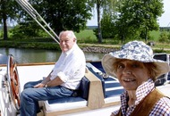 Timothy West and Prunella Scales recall their canal journeys together in new book