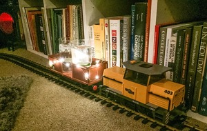 This guy's genius use for his model trains will have you rummaging through boxes for your old set