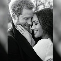 Harry and Meghan release official engagement photographs
