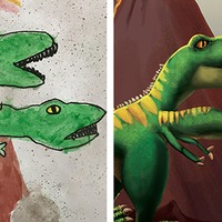 This palaeontologist brought children's dinosaur drawings to life and it's all kinds of cute