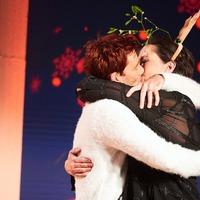 Miranda Hart puckers up to David Tennant in Christmas special