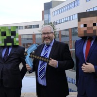 School pupils being introduced to coding through Minecraft
