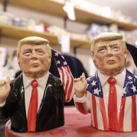 Pottery maker creates 'flamboyant' Donald Trump jugs complete with trademark hand gestures
