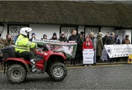 Hundreds attend fox hunt protest  in Crawfordsburn