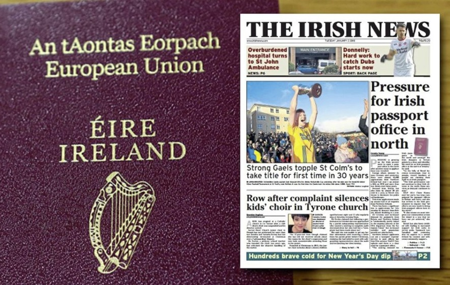 fianna fil suggests irish passport office along border with north