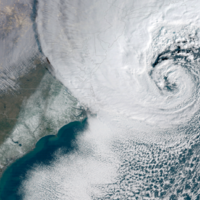 These satellite images show the terrible power of the 'bomb cyclone' as it passes over the US